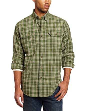 Carhartt Men's Fort Plaid Long Sleeve Shirt Chambray Button Front Relaxed Fit,Forest Green  (Closeout),XXX-Large Tall