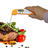 stovetop to oven - Instant Read Thermometer for Easy to Read, Accurate Digital Display of Internal Temperature for Meat, Fish and Bake Goods Prepared in the Oven, on the Stovetop or BBQ Grill