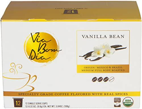 Naturally Flavored Organic K-CUP Coffee Pods, Vanilla Bean Flavor, 12 Count Box, Use in Single Serve Keurig Machine
