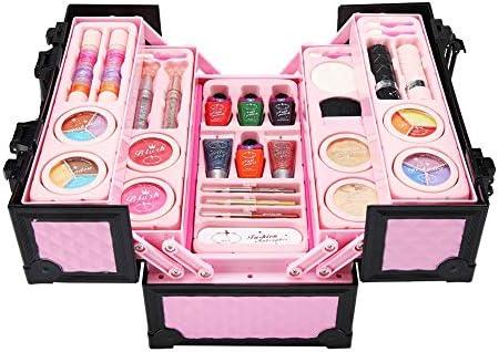 Zouminyy Kit de Maquillaje para niñas, Juego de cosméticos Princess Cosmetics para niñas, Kit de Maquillaje con minicaja: Amazon.es: Hogar