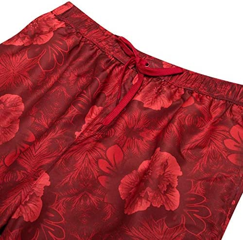Champion Mens Big and Tall Floral Print Swim Trunks with Quick Dry Technology