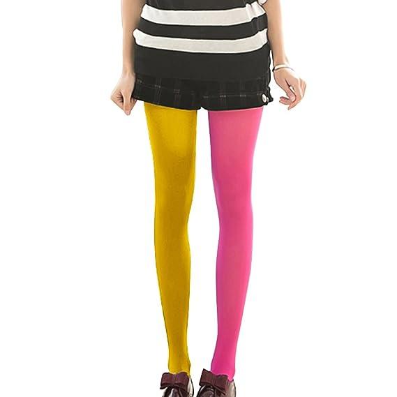 157ddf242 BESTOYARD Calcetines de doble color de moda AB empalme izquierda ...