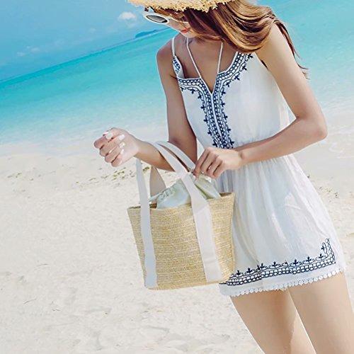 pour porté femme marine unique taille au bleu à Beige Boutique main Sac dos Minions xqfIv8wU