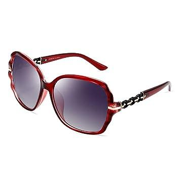 ZXW Gafas de Sol- Gafas de Sol Lady Big Box Retro Cara ...