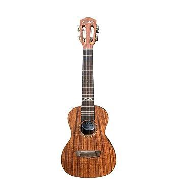 Miiliedy Práctica de madera clásica Ukulele Principiante Chicas Hombres Práctica de autoaprendizaje Tocar el instrumento de