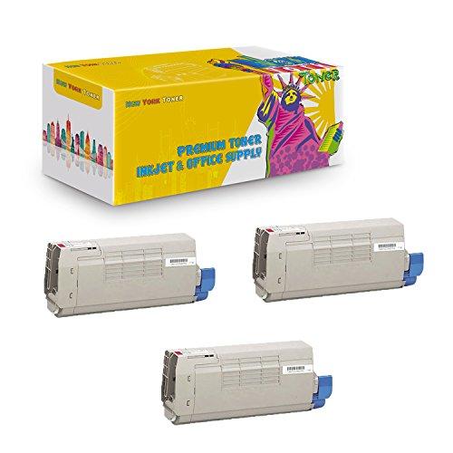 New York TonerTM New Compatible 3 Pack 44318602 High Yield Toner for Oki-Okidata : C711 | C711N | C711DN | C711DTN. -
