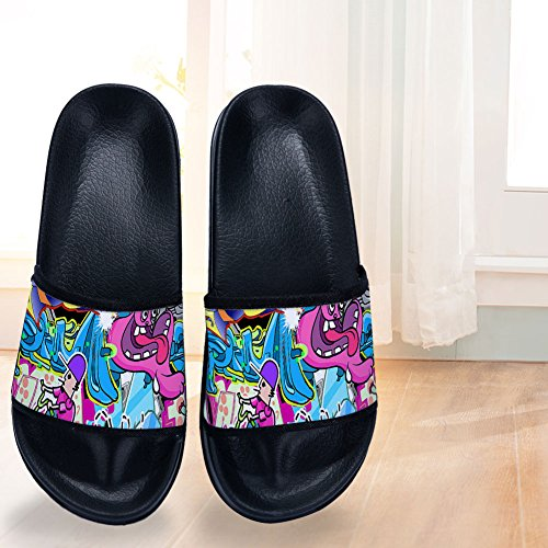Slippers Doodle Buteri Quick Womens Slip Non Drying Slippers Black for RYHdYq