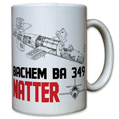 Bachem BA 349 Natter Air Force aircraft missile German rocket plane vertical launch interceptor - Coffee Cup ()
