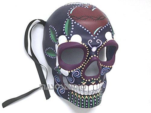 MasqStudio Mens Masquerade Skeleton Mask Day of The Dead Día de Muertos Wear or Deco (Purple) ()