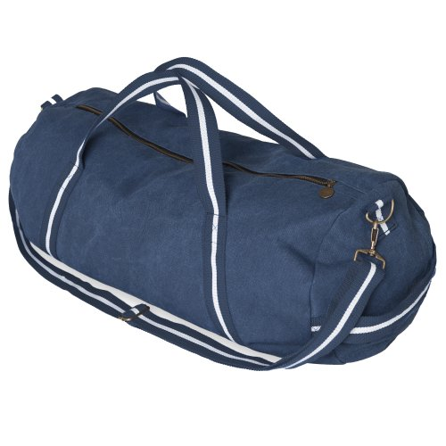 Bag Navy Holdall Canvas Front Duffle Row Washed wY4SHqI