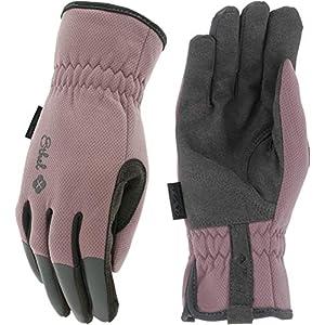 Mechanix Wear: Ethel Women's Gardening & Utility Work Gloves – Plum (Women's Medium)
