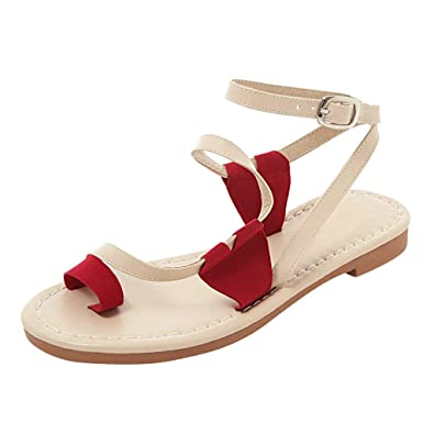 9b236064f ERLOU Basic Spring-Summer Fashion Women Ladies Casual Red Peach Heart Flat  Belt Buckle Beach