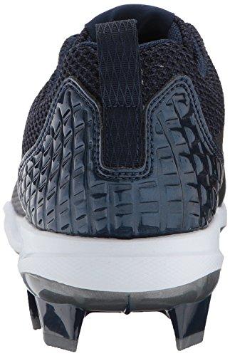 Adidas Original Mens Freak X Carbon Mid Baseball Collegiale Blu Navy / Argento Metallizzato / Bianco
