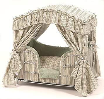 Maxx Elite Desinger Luxury Canopy Pet Bed (Sage Green Stripes)  sc 1 st  Amazon.com & Amazon.com : Maxx Elite Desinger Luxury Canopy Pet Bed (Sage Green ...