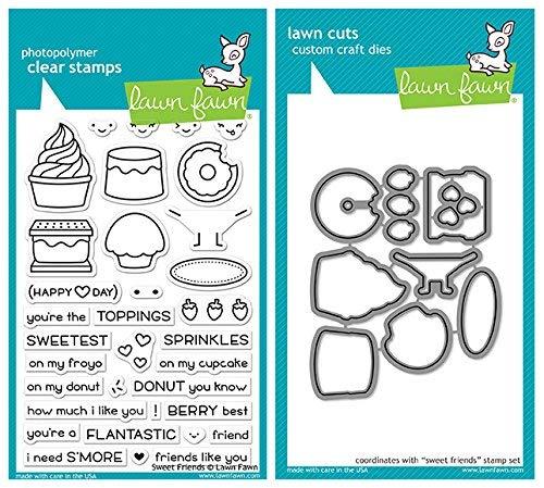 Lawn Fawn - Sweet Friends - Stamp and Die Set - 2 Item Bundle