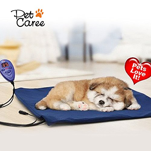 Heating Pads for Pets, Electric Heating Pad for Dogs &Cats Warming Dog Beds Pet Mat with Chew Resistant Cord Soft Removable Cover 51SOW6J8iyL