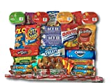 Gifts Flowers Food Best Deals - Sweet Salty & Savory Snacks Care Package by AtHomePlus (40 Count) --Perfect Gift for College Dorm, Military or Office!!