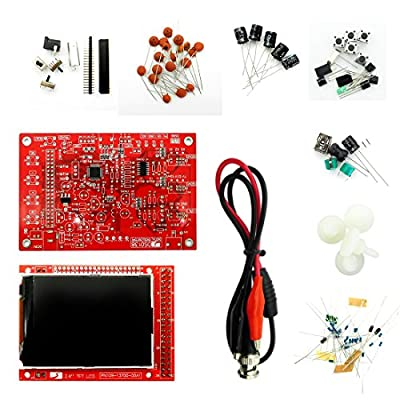 "DSO138 Open Source 2.4"" TFT Digital Oscilloscope Kit 1Msps with Probe Assembled vision (Welded)Suitable For Electronic Beginner"