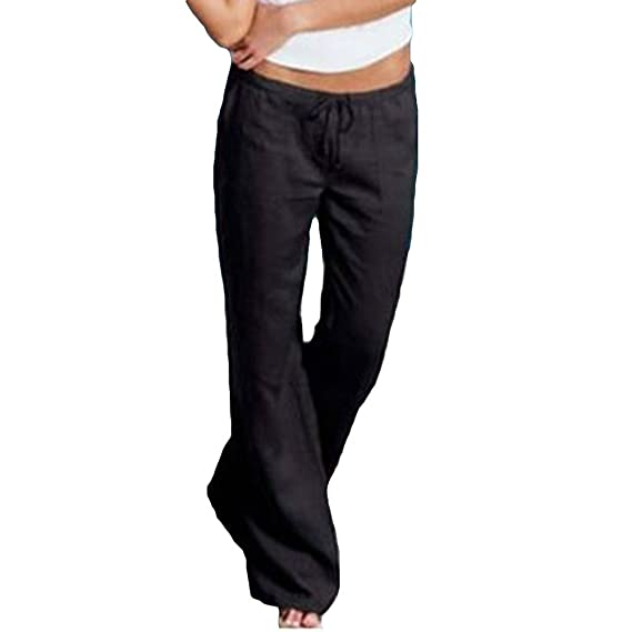 Mujeres Vintage Bootcut Pantalones cómodos Pantalones de Pierna Ancha  Pantalones Acampanados Modernos Ocasionales Pantalones Largos elásticos  Suaves ... 8881d5487262