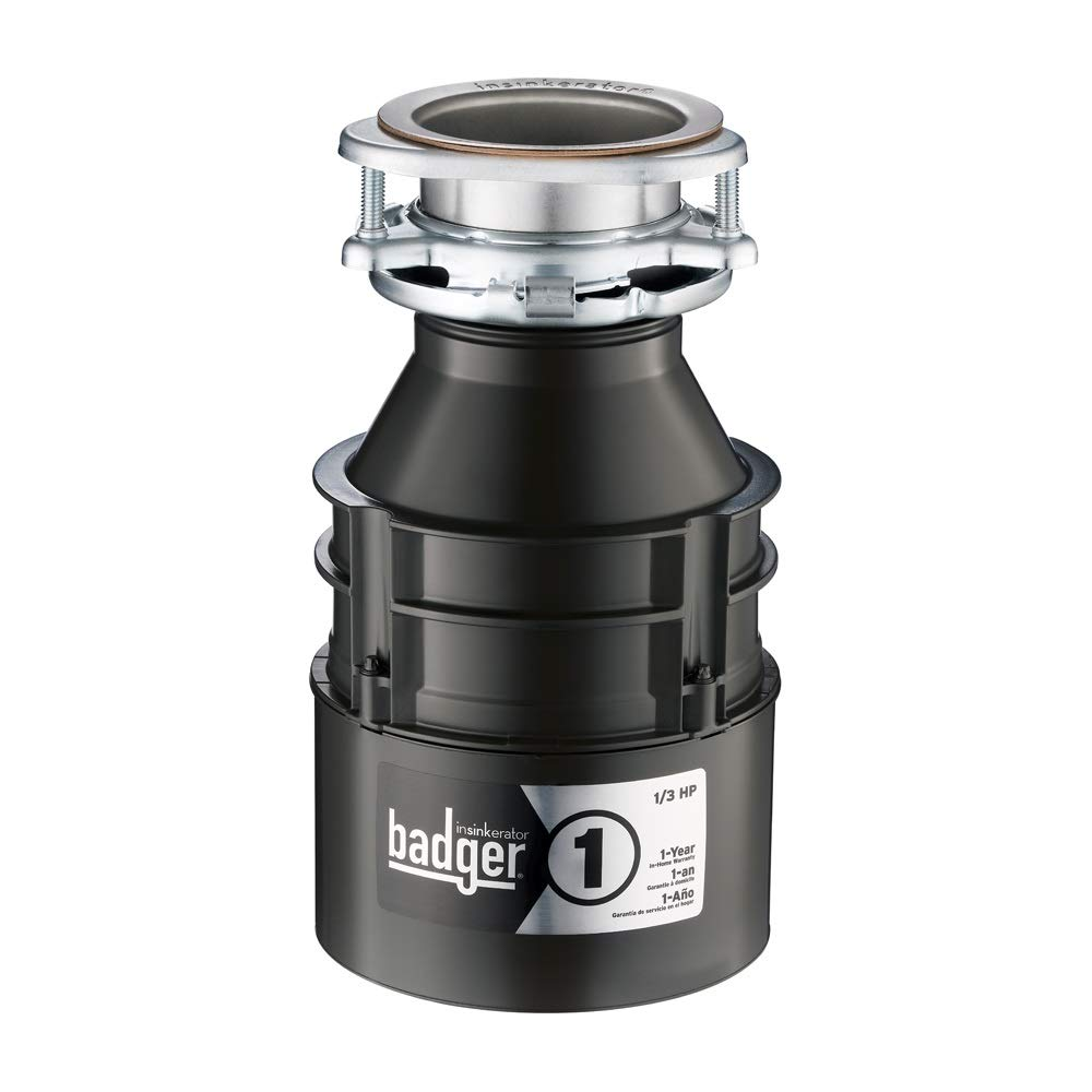 InSinkErator Garbage Disposal, Badger 1, 1/3 HP Continuous Feed by InSinkErator