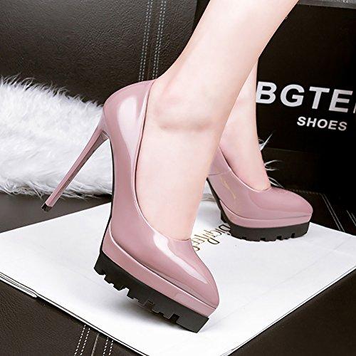 High Purple pu 66 Dress Court No toe Pointed Heel Platform Women's Shoes Pumps Town Shoes TtxnBxO