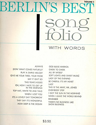 Berlin's Best Song Folio with Words ; Vocal Piano Chords