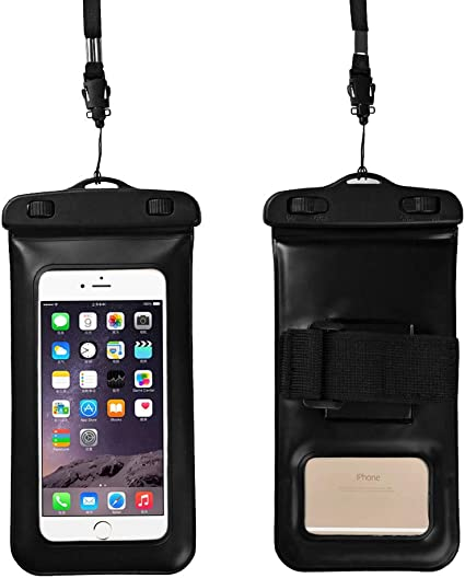 Samsung Galaxy S7 Waterproof Case Pouch with Kickstand Note 5 4 JOTO CellPhone Dry Bag Stand Case for Apple iPhone 7 6S Plus 6 SE 5S 5 Black HTC LG Sony Nokia Motorola up to 6.5 diagonal