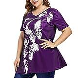 chengzhijianzhu_Women Shirts Fashion Womens Plus Size Short...