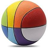 Chastep 8 Inch Foam Sports Ball, Rainbow Basketball, Safe & Soft Kick - Good Gift for Kids