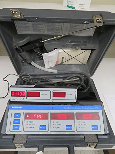 (Rosemount Series 500 Portable Combustion Analyzer w/Case & Accessories - MW6)