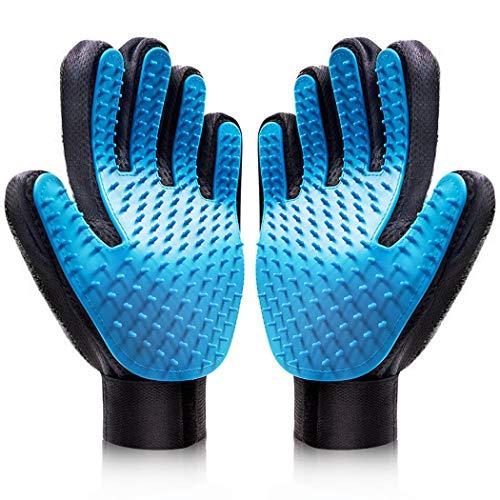 HEA GH Pet Grooming Gloves Deshedding Brush Gloves Pet Massage Gloves Efficient Pet Hair Remover Five Finger Design pet…