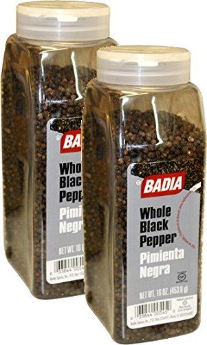 Badia Pepper Black Whole 16 oz Pack of 2
