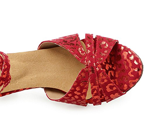de Sandale WYMNAME Latine de Chaussures Chaussures Danse Sociale de Womens Chaussures Danse Rouge Danse 7RU7zq