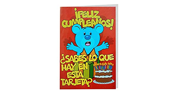 Tarjeta Felicitación CRAPOS Gigante, Cumpleaños Tarta 50 x ...