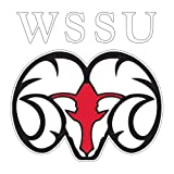 CollegeFanGear Winston Salem Extra Large Decal 'WSSU Ram'