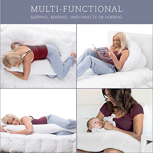 Full Body Pregnancy Pillow - Hypoallergenic Maternity Support Cushion for Pregnant or Nursing Women - Comfortable and Therapeutic - Machine Washable - By ComfySure