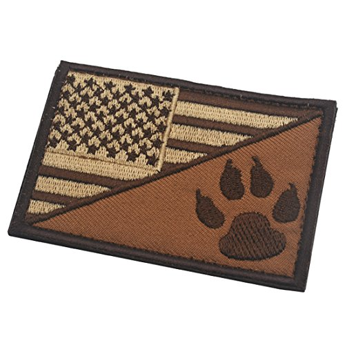 - Dog Claw/USA American Flag Funny Hook and Loop Fastener Embroidered Military Tactical Morale Patch 3.15