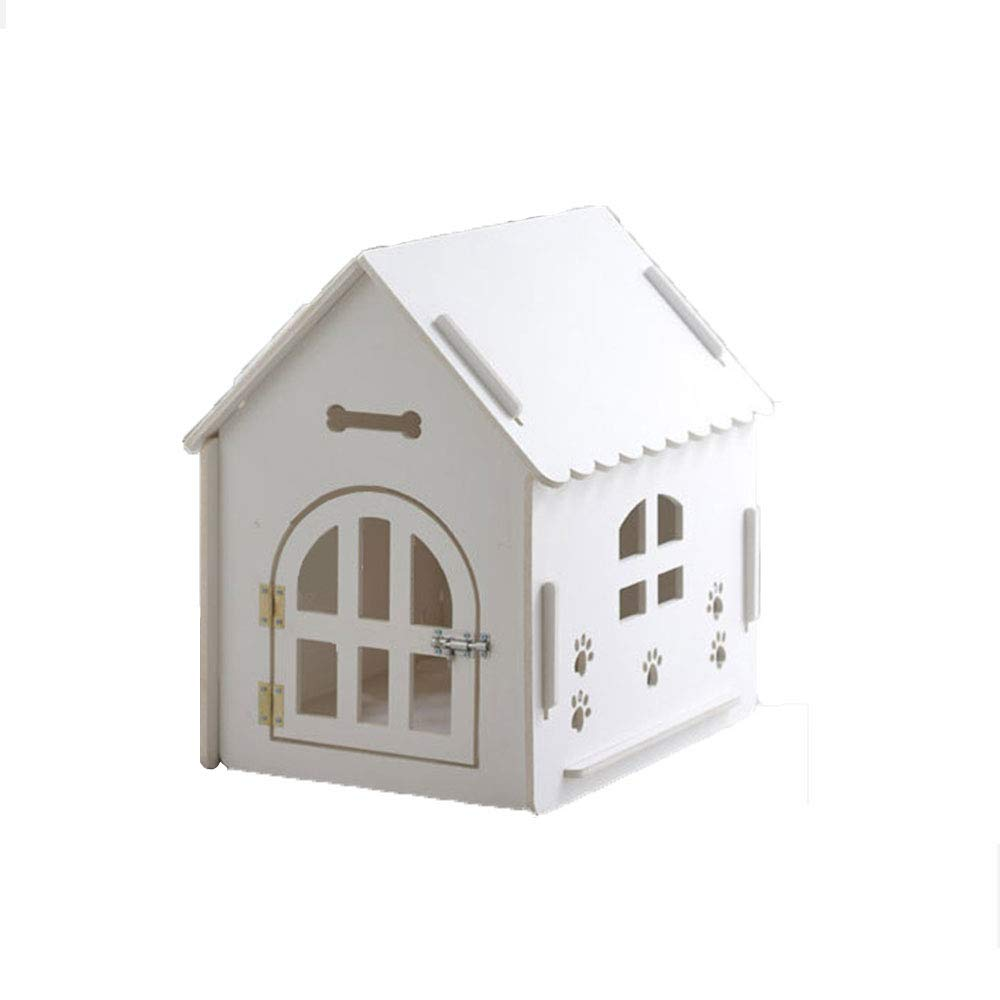 White Medium White Medium Pet Supplies Green wooden pet house, four seasons universal removable and washable pet house, 4 to 20kg pets can be used
