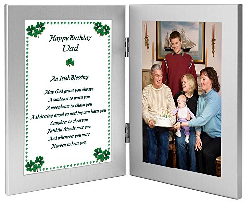 amazoncom happy birthday dad irish blessing birthday gift for father add photo to double frame