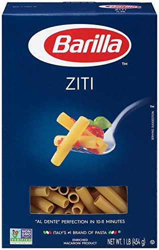 Barilla Pasta, Ziti, 16 Ounce (Pack of 12)