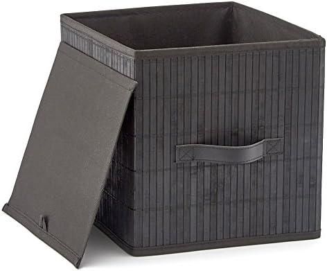 EZOWare Caja de Almacenamiento Bambú Cesto Cubo Decorativa ...