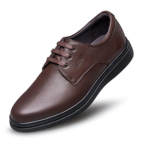 Zro Mens Lace Up Dress Oxford Branded Fashion Shoes Brown