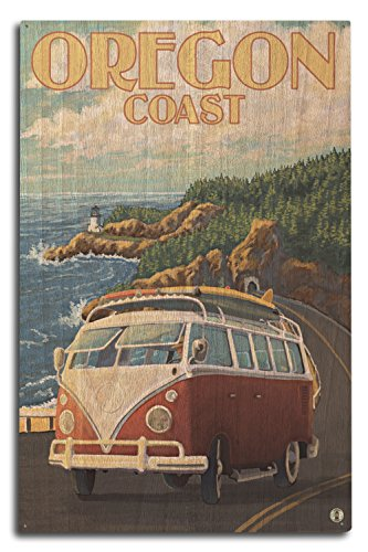 Lantern Press Oregon Coast - Cape Meares Lighthouse (10x15 Wood Wall Sign, Wall Decor Ready to Hang)