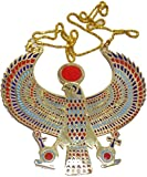 EGYPTIAN HORUS JEWELRY NECKLACE ANKH HUGE XXXL SOLID METAL BRASS HANDMADE EGYPT 102