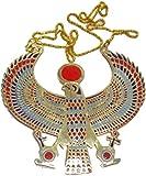 EGYPTIAN HORUS JEWELRY NECKLACE ANKH HUGE XXXL SOLID METAL BRASS HANDMADE EGYPT 102