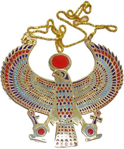bonballoon Egyptian Horus Jewelry Necklace Pendant Ankh Key Life Xxl Solid Brass Pharaoh -