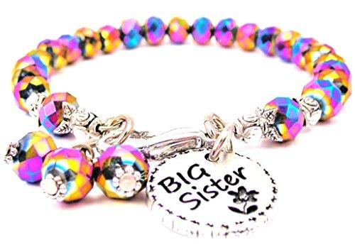 Multi Color Crystal Big Sister Circle Bracelet