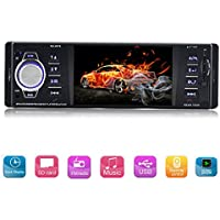 Single Din Car Stereo 4.1 Inch HD TFT Screen Car MP5 Player FM Radio Audio Video Player Support Bluetooth/ USB/SD/AUX/ Remote Control