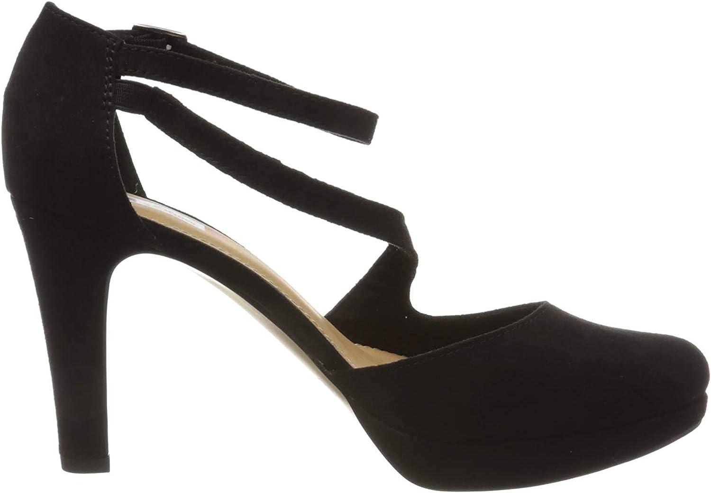 s.Oliver 5-5-24420-34, Zapatos con Tacon y Correa de Tobillo para Mujer