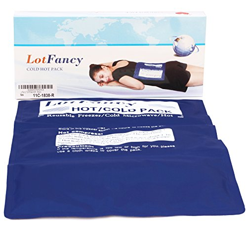 LotFancy Reusable Hot or Cold Gel-Pack - Soft and Comfortable